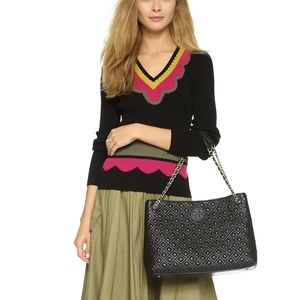 Tory Burch Marion Diamond Quilted Tote